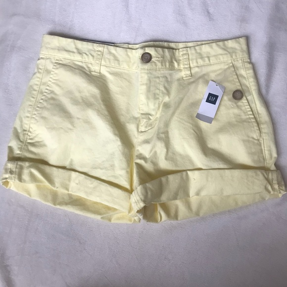 9175cf6c1459 GAP Shorts | 4 Inch Yellow | Poshmark